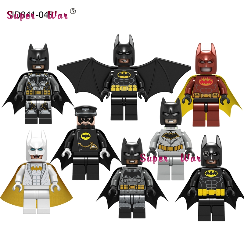 50pcs Model building blocks DC Super Heroes Batman Infinity War Iron Man 50 Spider Man Ebony