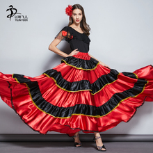 Юбка для Фламенго, для испанских танцев, для женщин, для фламенко, для Танцев Живота, юбка для танца живота