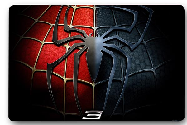 Custom 40x60cm Door Mat Cover Spider Man Logo Non-Slip Machine Washable Outdoor Indoor Decor Rug Christmas Gift