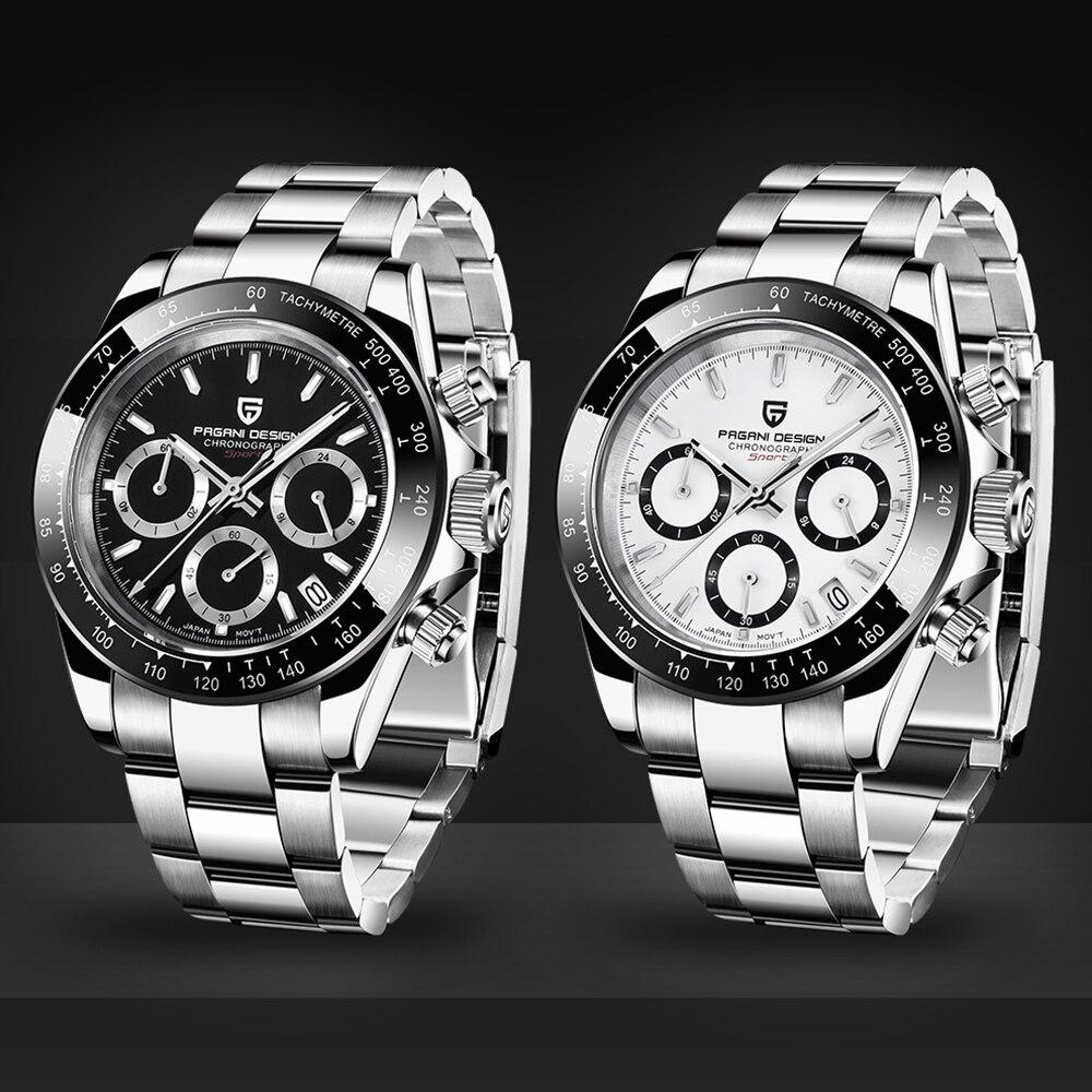 Часы для мужчин s Нержавеющая сталь Кожаный ремешок кварцевые часы Мода синий черный человек часы стиль для мужчин платье часы 40 мм - 3