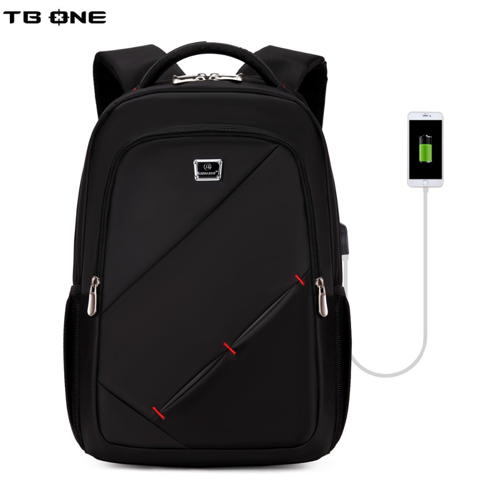 TBONE 1517 Laptop Backpack External USB Charge Computer Backpacks Anti-theft Waterproof Business Bags for Men Women quot laptop backpack external usb charge computer backpacks anti theft waterproof bags for men women school large capacity