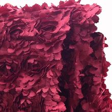 3D African Red Wedding Rosette Lace Fabric,Diy Sewing Tissu Lace Fabrics,Floral Patchwork Cloth,Width130cm(China)