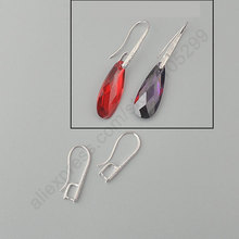 Free Shipping 100PCS Lot 925 Sterling Silver Jewelry Findings Pinch Bail Hook Frosted Earring Ear Wires