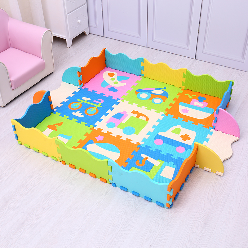 eva foam baby play mats baby crawling mat fence puzzle game soft floor children interlocking. Black Bedroom Furniture Sets. Home Design Ideas