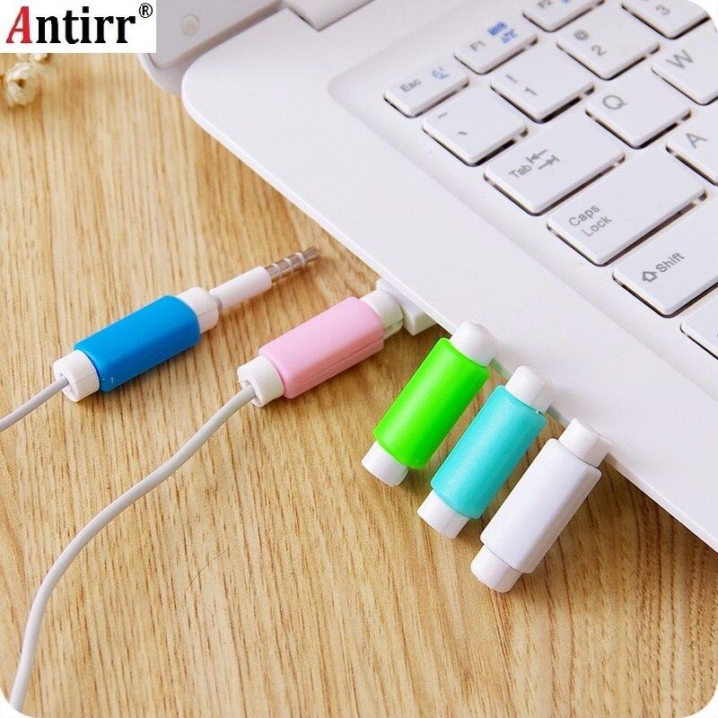 Tüketici Elektroniği'ten Kablo Sarıcı'de 2019 Moda telefon USB şarj cihazı Kablo Koruyucu Renkli Kablo Tasarrufu Kablosu Koruma Için iphone kablo sarıcı organizatör serbest title=