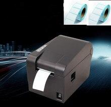 2016 neue hohe qualität 2 Roll Label papier + 235B Barcode etikettendrucker Thermische kleidung etikettendrucker Unterstützung breite 58mm druck