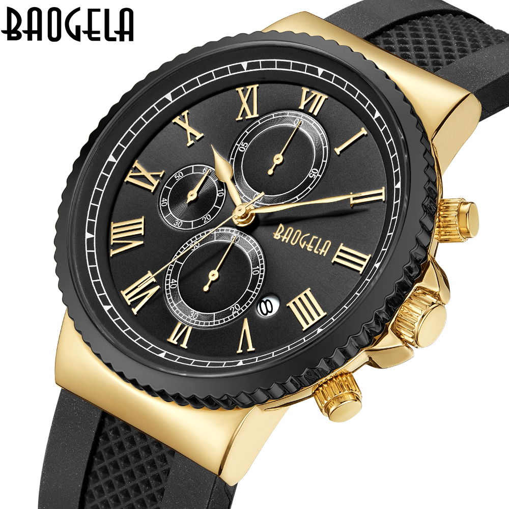 Mens Watches Top Brand Luxury Business Quartz Watch Men Casual Large Dial Clock Sports Watches Relogio Masculino Chronograph top luxury brand business watches men stainless steel quartz watch mens sports watch chronograph clock male relogio masculino