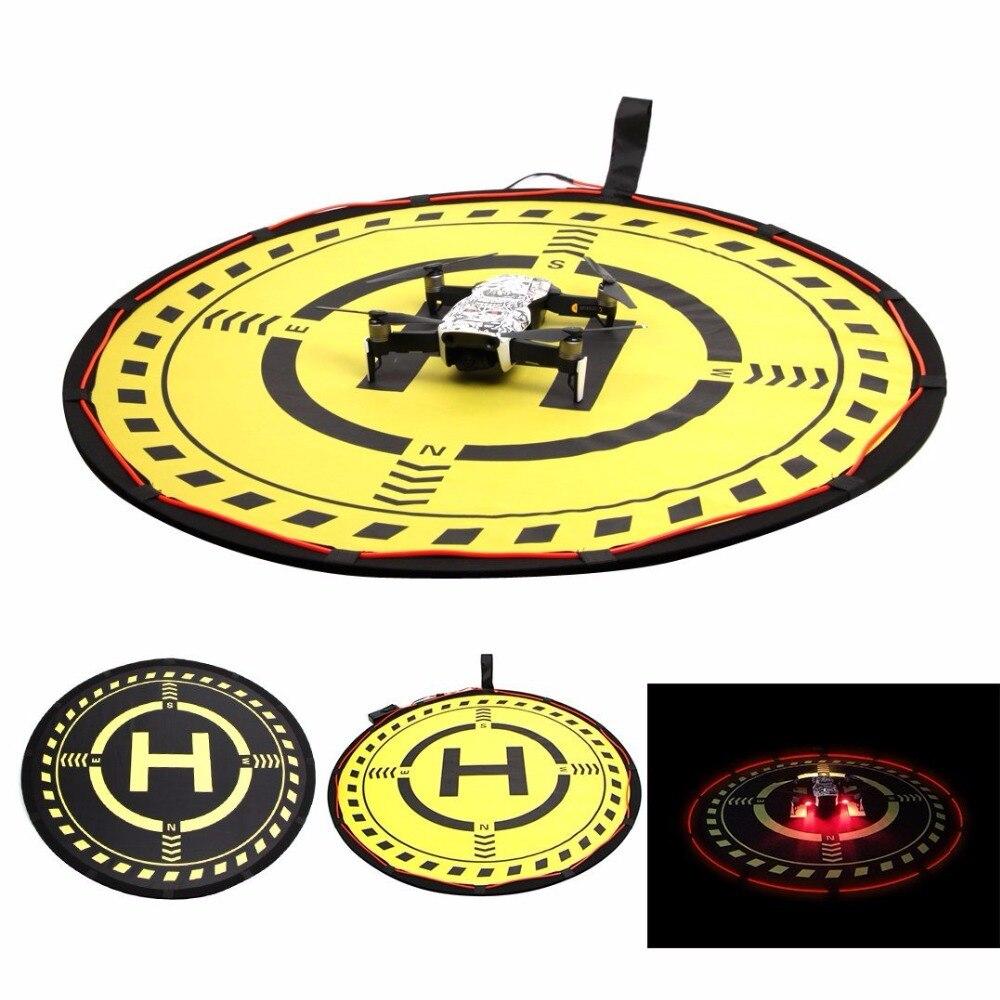 70cm Portable Landing Pad Helipad Foldable Land Field Ground Station with LED Lighting for DJI MAVIC AIR /PRO SPARK/ PHANTOM 3 4 drone helipad