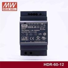 יציב מתכוון גם HDR 60 12 12V 4.5A meanwell HDR 60 54W פלט יחיד תעשייתי מסילת DIN אספקת חשמל [Hot6]