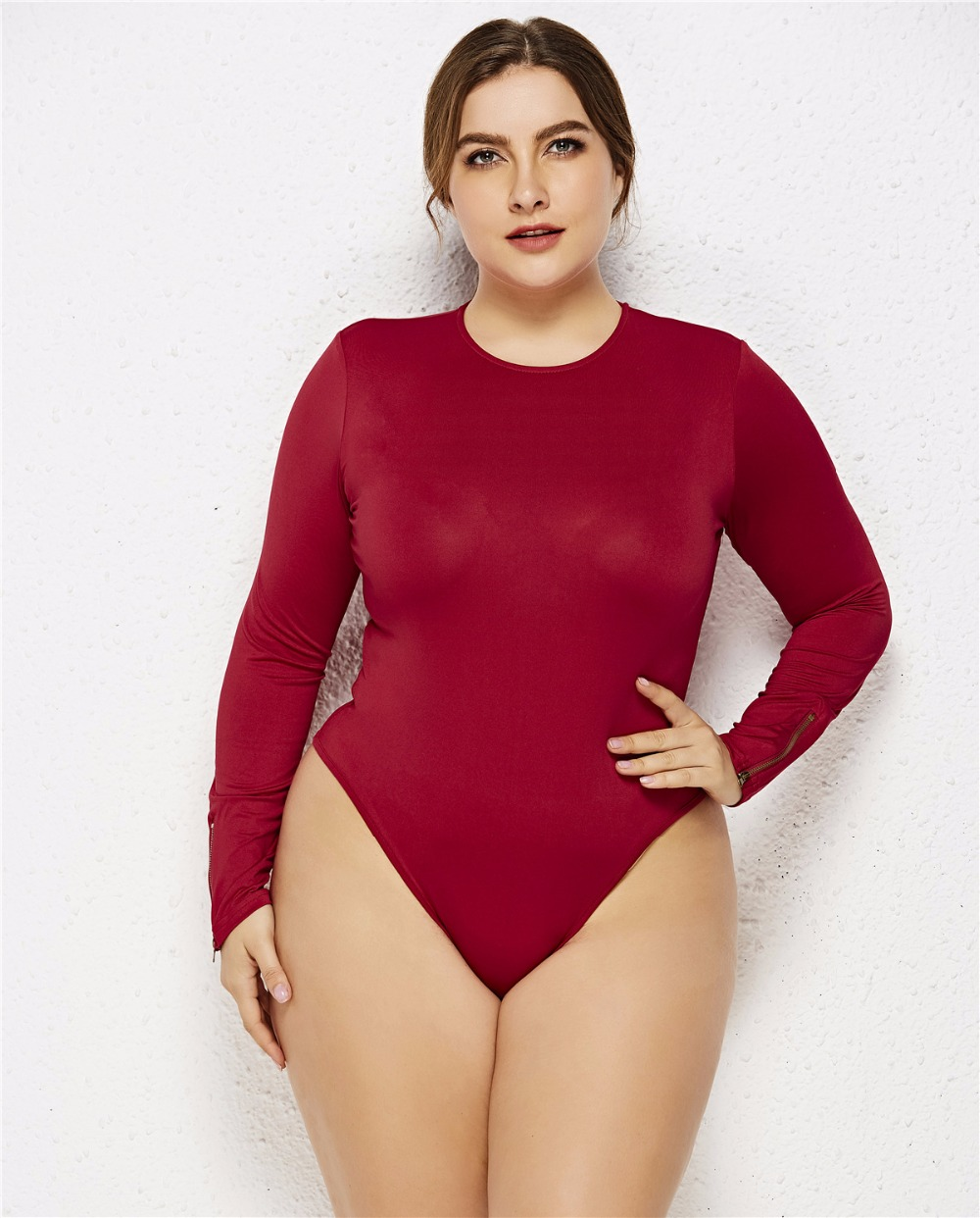 b6fb6fc6db5 Details about 6XL Casual Jumpsuits Women Long Sleeve Plus Size Sexy  Bodysuit Knitted Romper