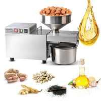 Máquina automática de prensado de aceite para casa Extractor de aceite de semilla de acero inoxidable Mini máquina de prensa de aceite caliente en frío Manual de cacao