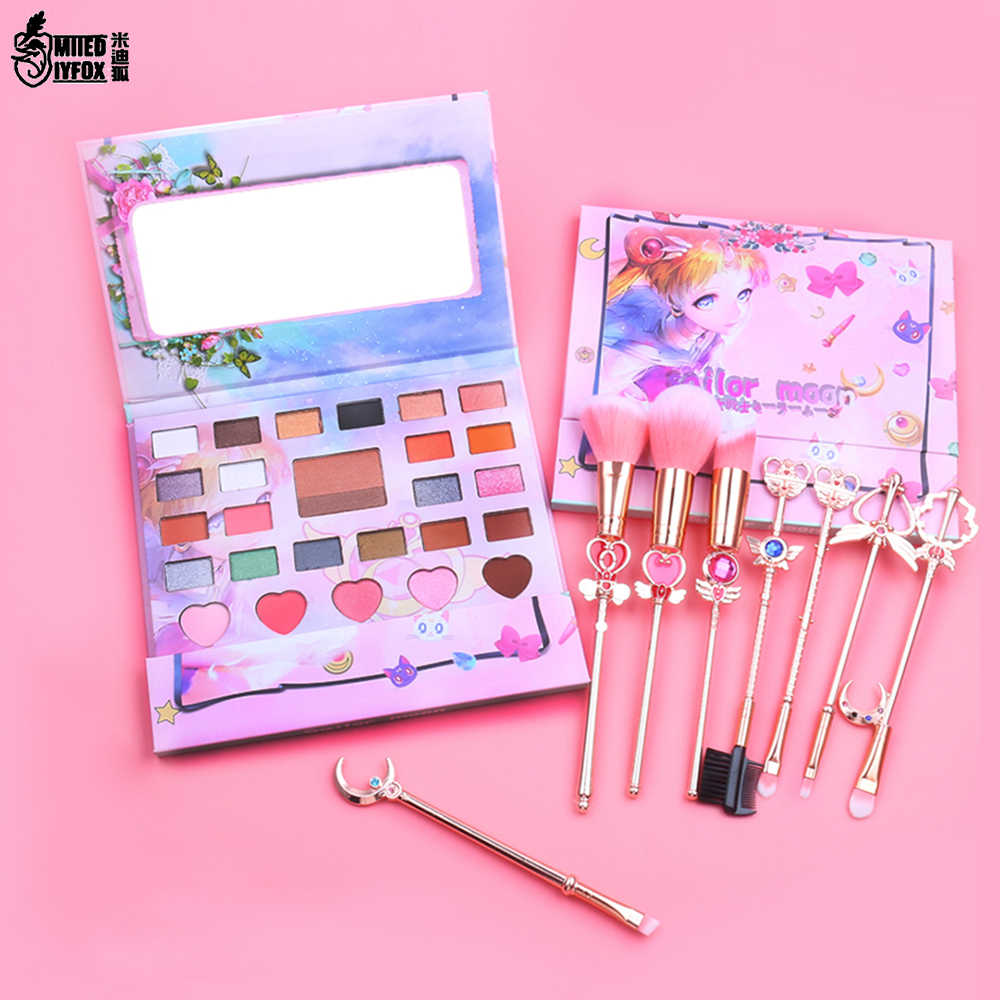 27 Warna Lucu Anime Sailor Moon Eyeshadow Pallet Malas Eyeshadow Bubuk Profesional Membuat Bersinar Eye Shadow Gadis Hadiah