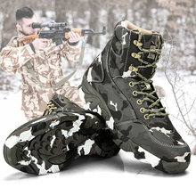 Spring Men Military Tactical Boots Waterproof Canvas Camouflage Camping Trekking Boot Outdoor Climbing Hiking Shoes Man new outdoor surviva hiking boots men waterproof non slip mountaineering boot men guenuine leather hiking comfortable boot men