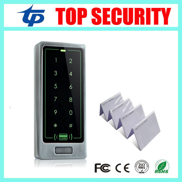 DHL free shipping 5pcs a lot 125KHZ RFID card access control reader with keypad face waterproof touch smart card access control waterproof touch keypad card reader for rfid access control system card reader with wg26 for home security f1688a