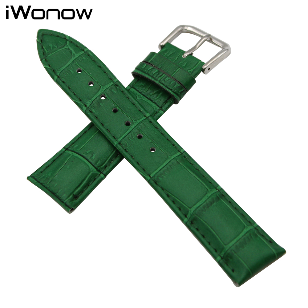 Croco Genuine Leather Watch Band 18mm 19mm 20mm for DW Daniel Wellington Stainless Steel Buckle Strap Wrist Belt Bracelet + Tool 18mm 20mm silicone rubber watch band for dw daniel wellington wrist resin strap stainless stee safety buckle bracelet tools