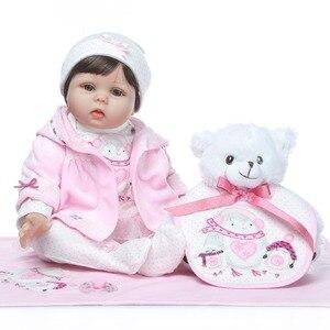 Image 3 - Npk 2019 Nieuwe Desigen Baby Meisje Reborn Poppen Kinderen Speelgoed Zachte Siliconen Vinyl 22 50 Cm Echte Leven Baby reborn Levend Pop