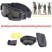 54317bb735 Lunettes balistiques tactiques militaire Airsoft lunettes UV400 Protection  des yeux hommes en plein air Wargame chasse