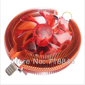 Wholesale New GKD 90mm 4Pin Ultra Silent Fan For Intel 775 1156 AMD 754,Multi-Compatible CPU Cooler with retail package кулер thermaltake silent 1156 clp0552 1156 fan 9 cm 800 1700 rpm