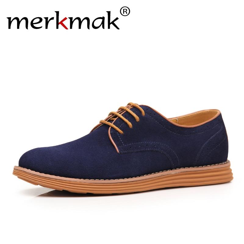Merkmak 2018 Big Size 47 Men Business Casual Shoes Fashion Breathable Brand Male Shoes Large Size Flats Shoes Designer Footwear