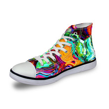 Noisydesigns Ladies sneakers women graffiti paisley 3D print vintage flat shoes vulcanized high top casual footwear girl fashion