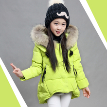 Korean Baby Girls Parkas 2017 Winter Children Clothing Thick Outerwear Casual Coats Kids Clothes Thicken Cotton-padded Warm Coat