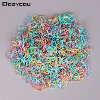 1.5CM New Child Baby Hair Holders Rubber Bands Elastics Girl Tie Braids Hair Accessories 4 Color 1000PCS/bag