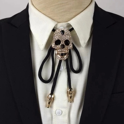 2017 New Arrival Rushed Fashion Cotton Adult Accessories Adjustable Necklace Skull