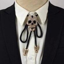 2017 Nueva Llegada Rushed Moda Accesorios de Algodón Para Adultos Ajustable Collar de Cráneo