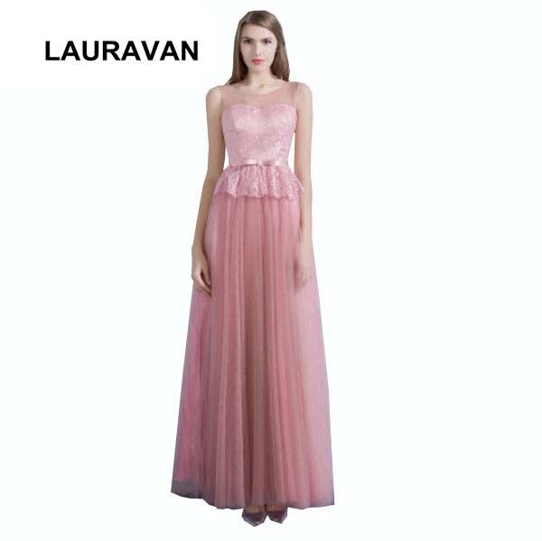 high fashion women girls sexy blush lace floor length lace new evening dress full ball gown 2019 vestido de festa long gowns