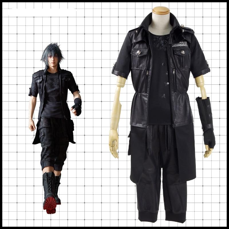 Haut-Q unisexe Anime Cosplay Final Fantasy XV Noctis Lucis Caelum Cosplay Costumes ensembles costume