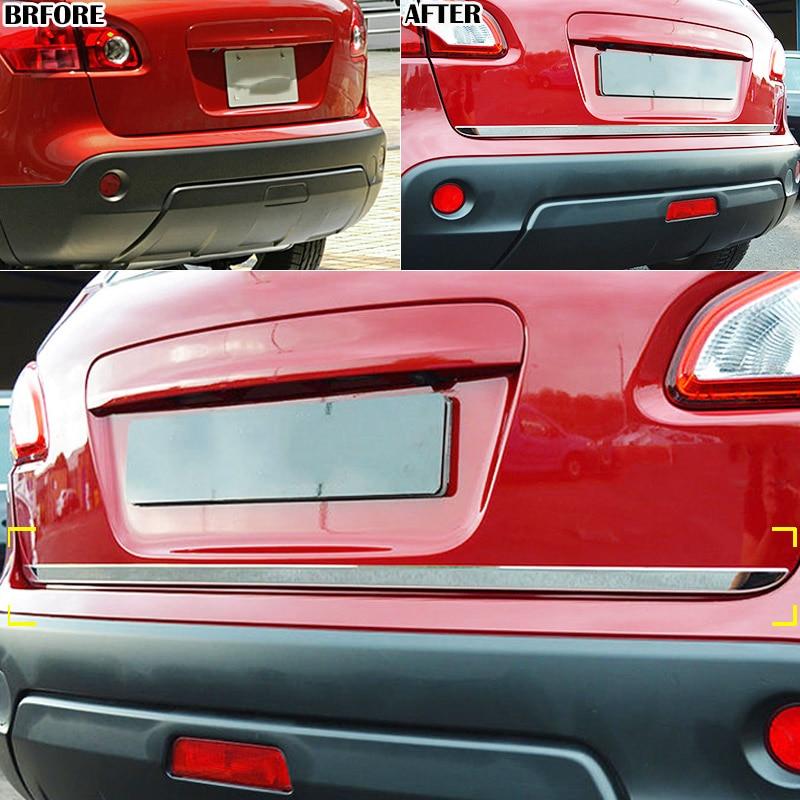 Для Nissan Qashqai/Dualis/+ 2 2007 2008 2009-2013 хромированная Задняя Крышка багажника, двери, молдинг, полоса, ободок, отделка, Стайлинг