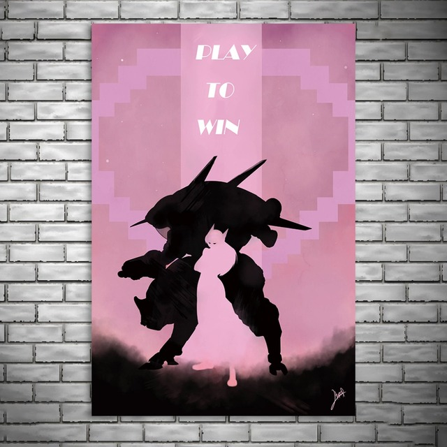 NUOMEGE Overwatchs Game Artwork Silk Canvas Art Poster Paintings Print Wall Pictures For Living Room Home Decoration Unframe 3