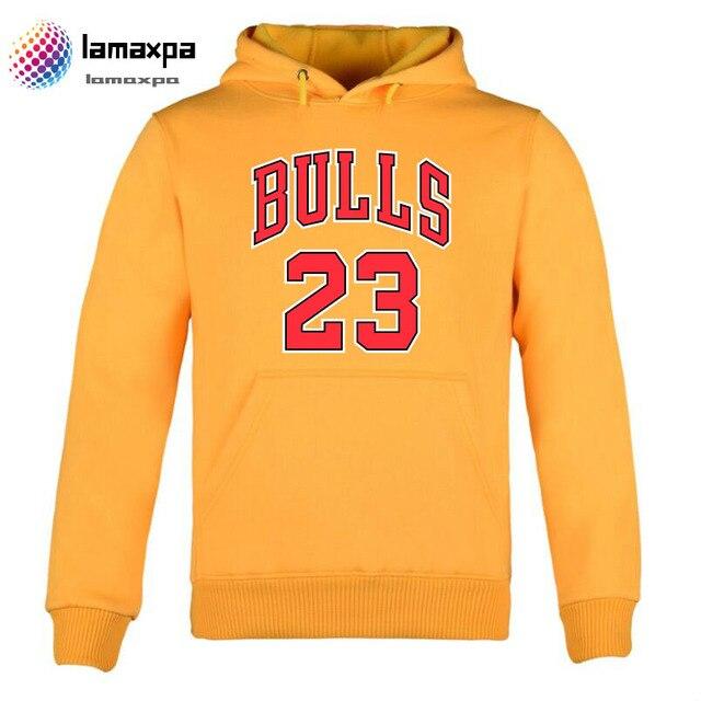 140101c8b Winter Men Hoodies Sweatshirts Bulls 23 Printed Hoodie Men Women yellow  Streetwear outerweear male Hip Hop