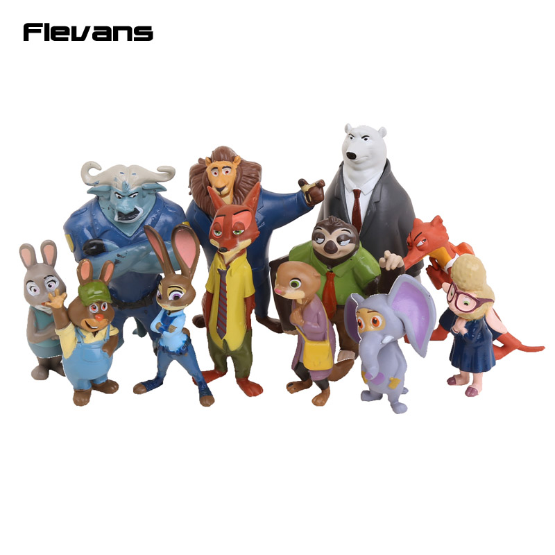 12 Styles Zootopia Figure Toys Rabbit Judy Hopps Fox Nick Wilde Sloth Flash Movie Zootropolis Zootopia Figure Toy Gift