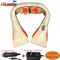 Relieve Back Pain Infrared Heating Massage Devices Neck Shoulder Kneading Massage Shawl Electric Muscle Stimulator Massage