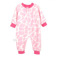 Flannel Children With Body Clothing Thickening Baby Spring And Autumn Winter Climbing Clothing 0 1 Year