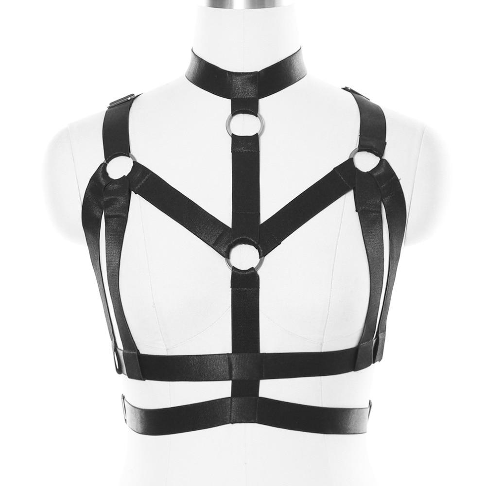 Buy BODY CAGE Bondage Body Harness Women Bra Straps Tops Bustier Bdsm Goth Fetish Lingerie Black Elastic Adjust Underwear Dance