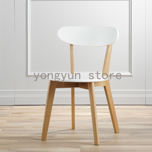 Minimalist Modern Dining Room Furniture Solid Wood And MDF Wooden Dining  Chair Leisure Home Furniture Fashion