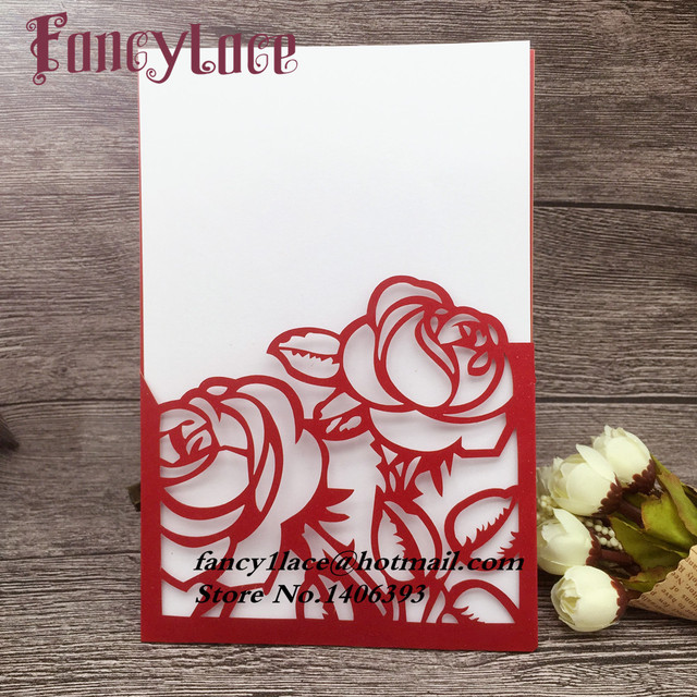 50pcs paper laser cut rose flower wedding invitations cards wedding 50pcs paper laser cut rose flower wedding invitations cards wedding favors and gift wedding mightylinksfo