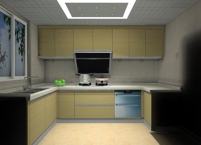 Modular Kitchen Cabinet Customize Quartz Stone Countertop Acrylic