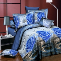 twin queen bedding sets 3d quilt duvet cover pillowcase set flowers printing Furniture household quilt cover pillowcase