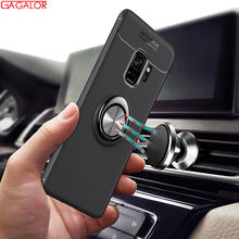 360 Degree Ring Finger Holder Car Magnet Phone Case for Samsung Galaxy S8 S9 PLUS Note 9 J3 J5 J7 2017 J4 J6 2018 Stand Case(China)