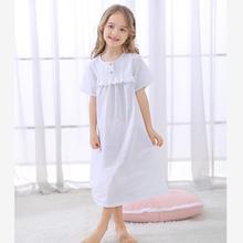Летняя Детская ночная рубашка; Одежда для маленьких девочек; детская одежда для сна с короткими рукавами; винтажная Домашняя одежда принцессы; пижамы с длинными рукавами; Y786
