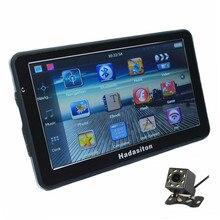"""Горячая """" сенсорный экран автомобильный gps навигатор 256 M/8 GB SAT NAV CPU800M FM Бесплатные карты, Bluetooth AV-IN и беспроводная камера заднего вида опционально"""