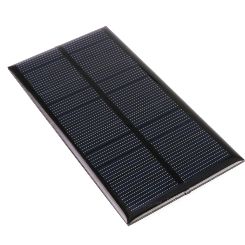 ANBES Solar Panel 120x60.5mm 6V 1W Standard Epoxy 120x60.5mm Mini Solar Cell Polycrystalline Silicon Universal Solar Panel