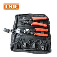 Hand Crimping Tool Set crimping tool kit with cable cutter & 4 replaceable die sets HS-K02C