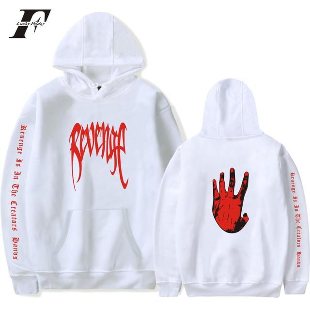 LUCKYFRIDAYF Xxxtentacion Revenge Cool Hoodies Men/Women Hot Sale Sweatshirts Rapper Hip Hop Hooded sweatershirts male/Women 4XL