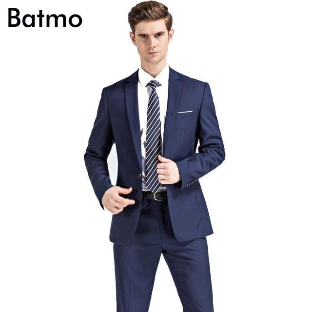 2017 New Arrival Navy Blue Wedding Suits Men Blazer S Business