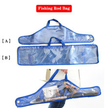1pcs Transparent Fishing Tackle bag For Fish Rod/Reel/Lure/Line 68/71cm  Portable Folding Rod Reel Bag