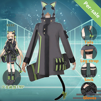 [STOCK]2018 Game Girls Frontline TMP Battle Uniforms Cosplay Costume/Backpack/Headset For Women Halloween Carnival Free Shipping